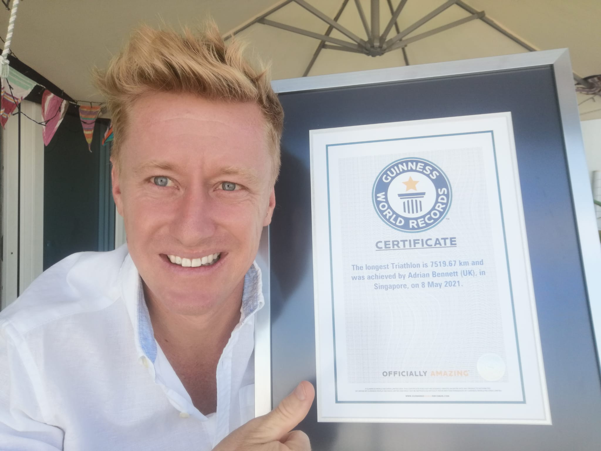 Adrian with certificate